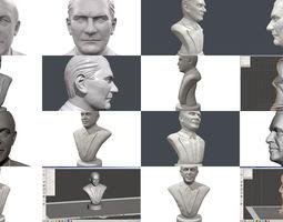 3D model Turkish leaders portrait Erdogan Ataturk