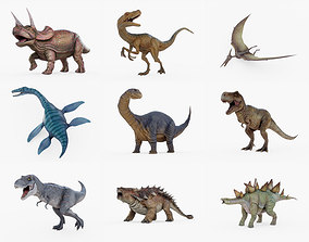 3D model Rigged Dinosaur Collection