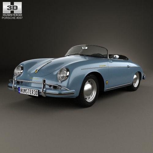 porsche 356a 1600 super speedster 1955 3d model max obj mtl 3ds fbx c4d lwo lw lws 1