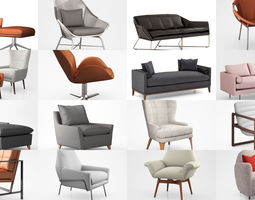 3D West Elm chairs