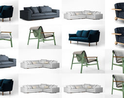 3D model Jardan chairs and sofas