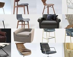 Set of chairs 3D model unopiu