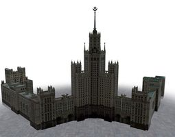 Moscow House Building61 3D asset