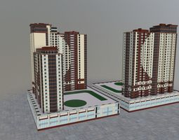 Moscow House Building60 3D model