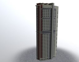 3D asset realtime Moscow House Building18