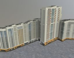 3D model Moscow House Building01