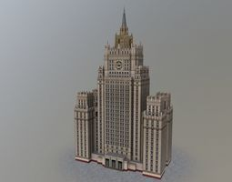 3D model Moscow Foreign Office