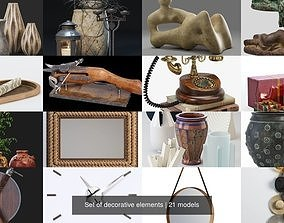 3D nomon Set of decorative elements
