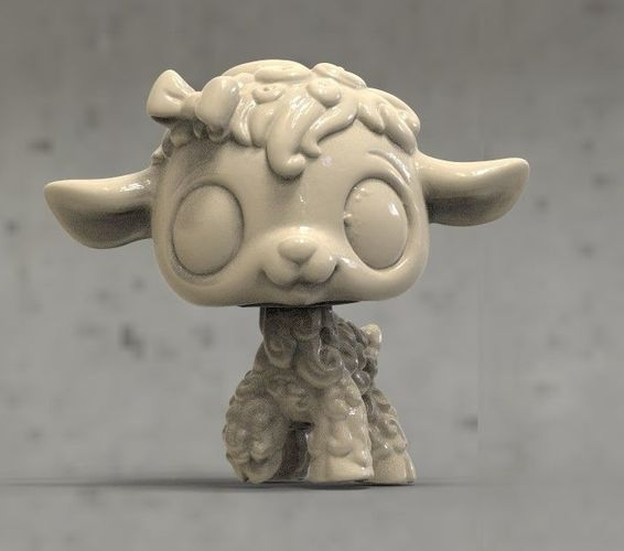 sheep 3d model max obj mtl fbx stl 1