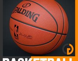 spalding nba official basketball game ball 3d model max obj 3ds fbx c4d lwo lw lws