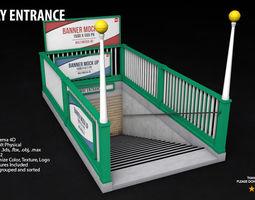Subway Entrance - Street Props 3D model