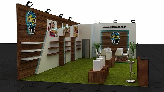 exhibition stand -2 3d model max 1