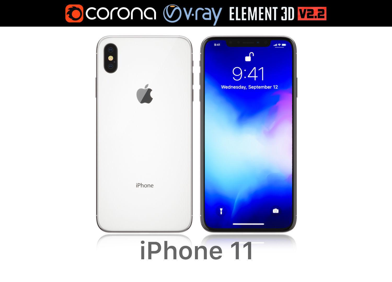 buy popular 10da5 fb27e Apple iPhone XS MAX white | 3D model