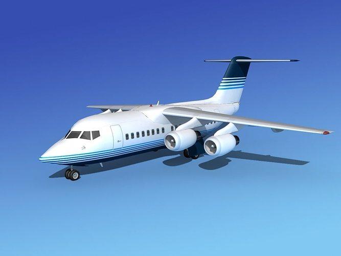 bae 146-100 corporate 2 3d model max obj 3ds lwo lw lws dxf stl 1