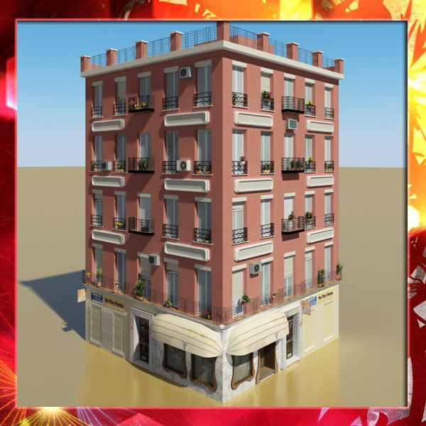 Photorealistic Low Poly Building
