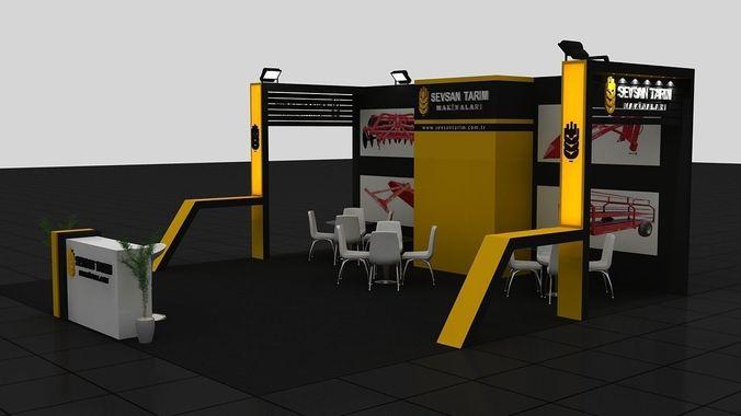 Sevsan Exhibition Stand3D model