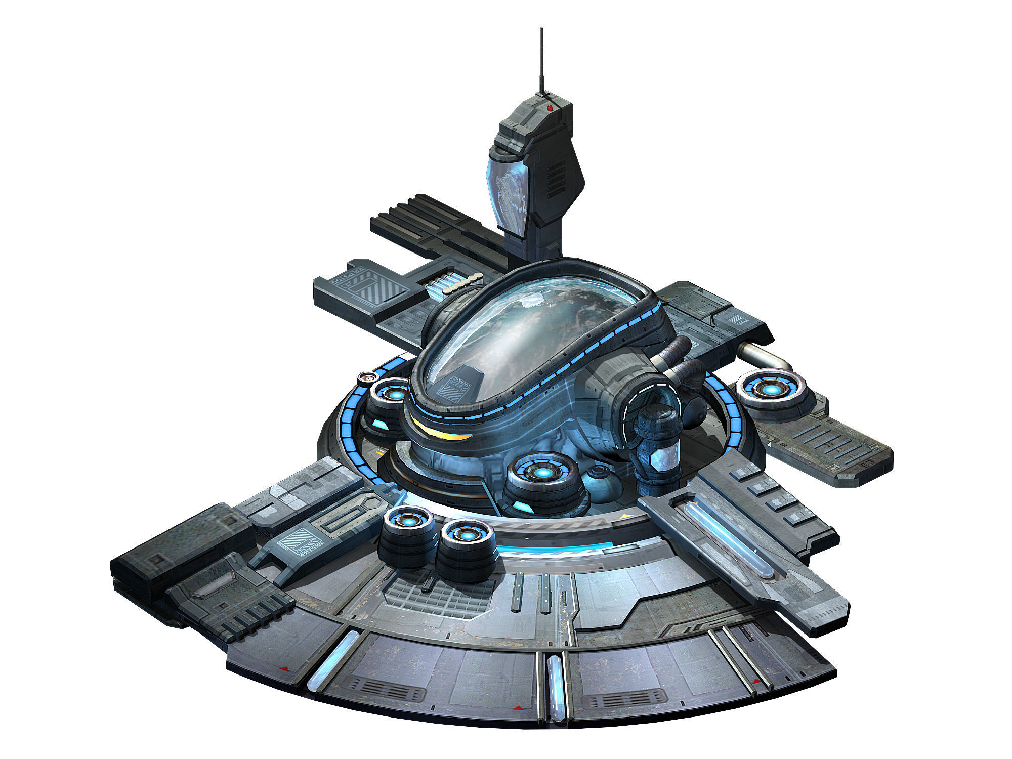 Machinery - Spacecraft - Functional Objects 01