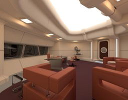 starship interior - captain s room 3d