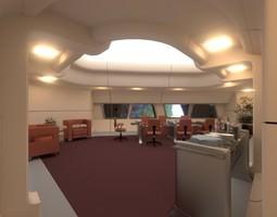 starship interior - conference room 3d