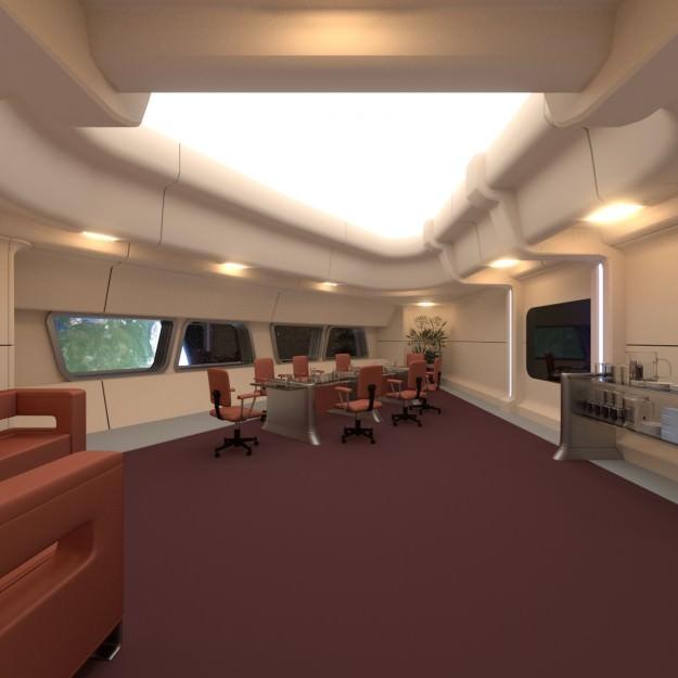 Starship Interior Conference Room 3d Model Obj 3ds Blend Cgtrader Com