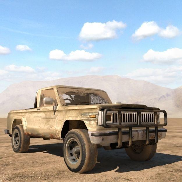 Jeep j20 truck | 3D model