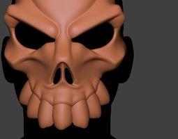stylized Skull Mask 3D print model