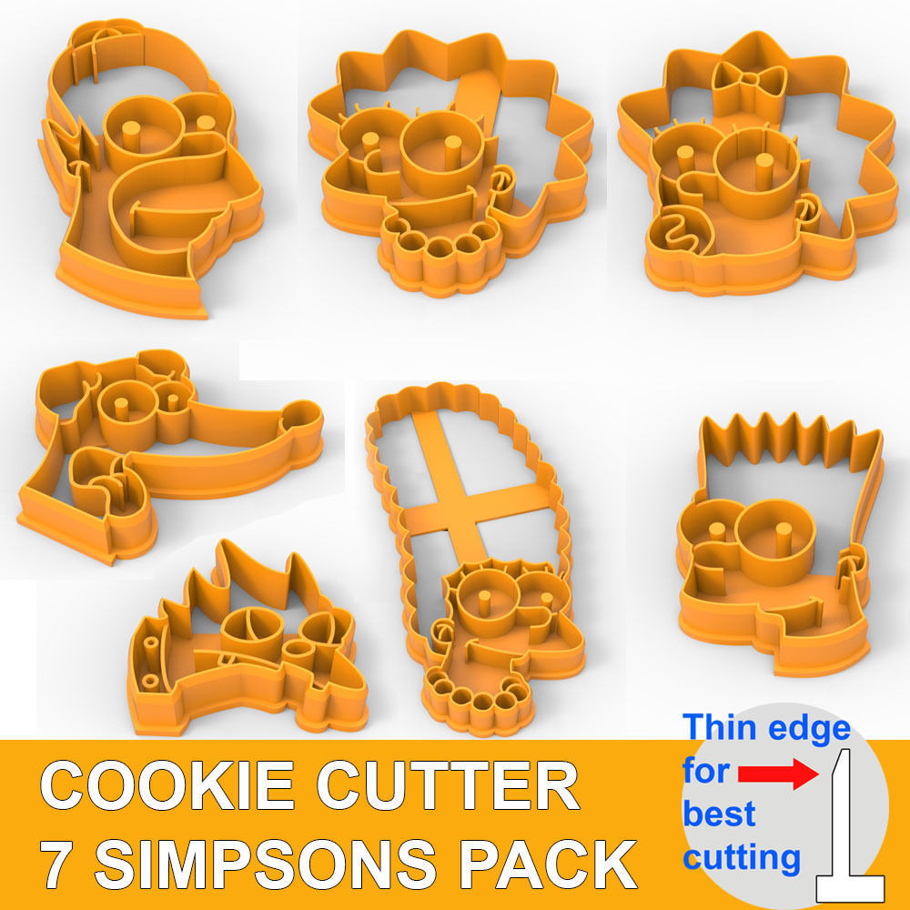 COOKIE CUTTER 7 SIMPSONS PACK