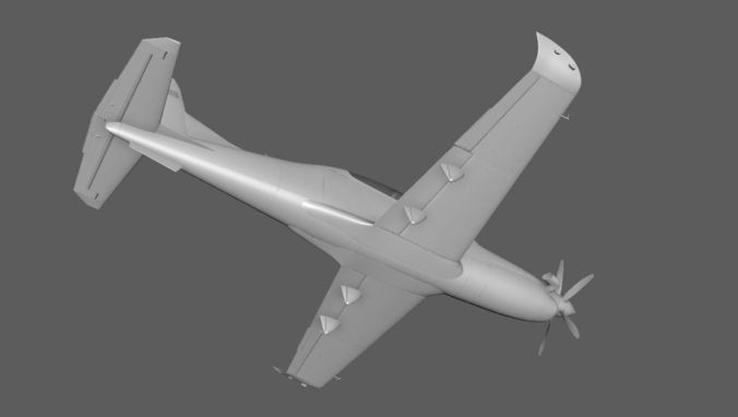 hurkus plane model 3d model obj mtl fbx ma mb 1