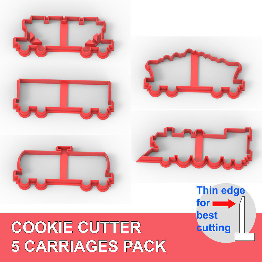 COOKIE CUTTER  5 CARRIAGES PACK