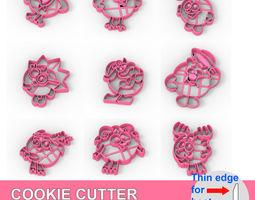 3D print model COOKIE CUTTER 9 KikOriki PACK