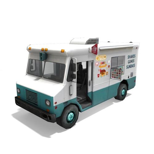 Generic Low Poly Ice Cream Truck3D model