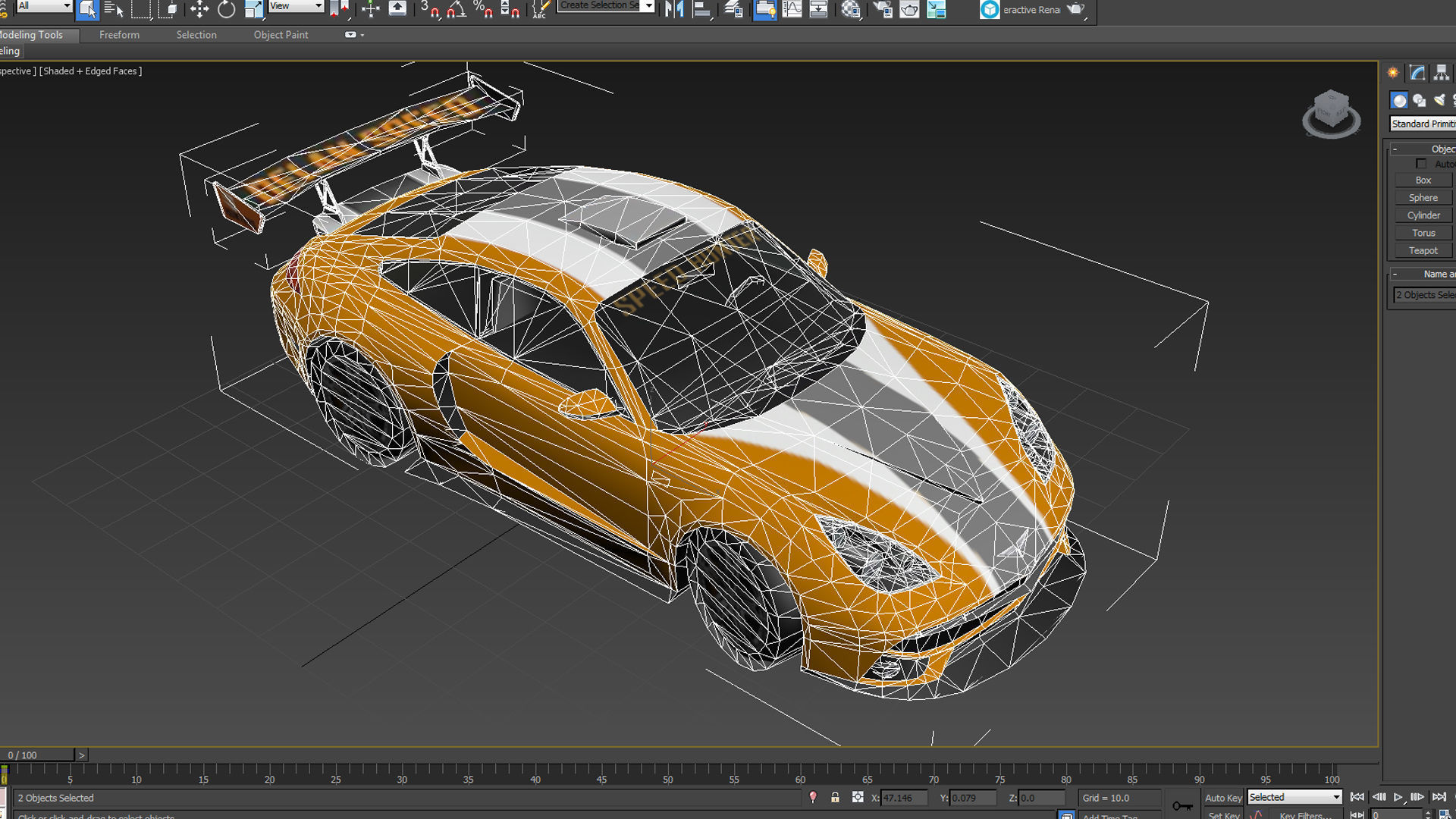 Low Poly Simple Car 911gt 2 3d Model Cgtrader
