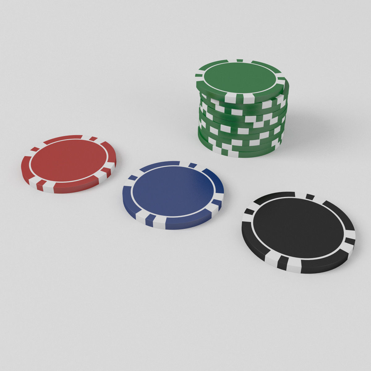 Custom Poker Chips 3d Wheel Cgtrader