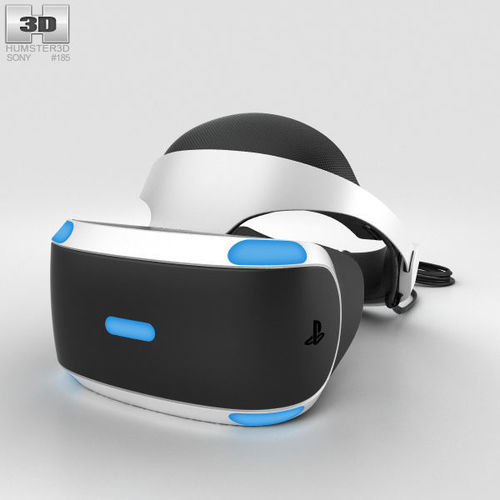 sony playstation vr 3d model max obj mtl 3ds fbx c4d lwo lw lws 1
