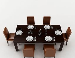 3d model Dining Table kitchen-appliance