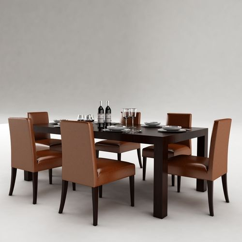 Dining table 53 3d model max obj 3ds fbx for Dining table latest model
