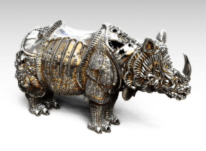 rhinoceros durer 3d model stl 1
