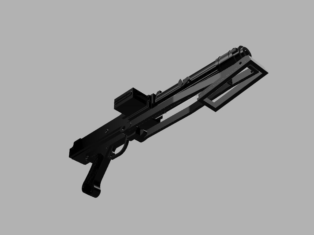 Realistic Star Wars DC-15s Side Arm Blaster | 3D Print Model