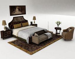 3D Bedroom set bed