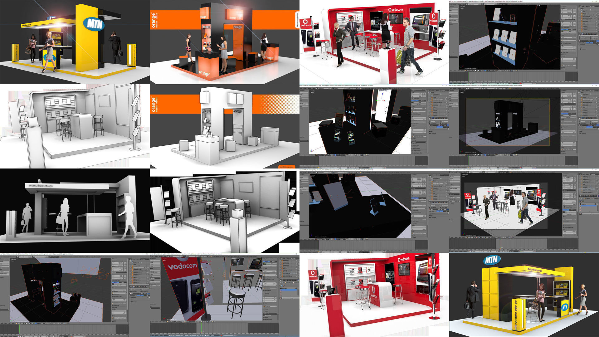 Exhibition Stands And Events : 3d model ultimate exhibition display stand for events