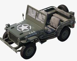 Military Jeep Car Willys 3D model