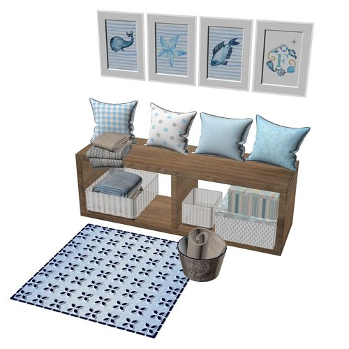 Pillows And Picture Frames For Baby 3d Model