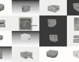 3D Bunker set