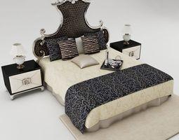3D model Bedroom set mattress