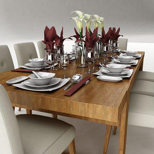 Dining table 51 3D Model MAX OBJ 3DS FBX DWG | CGTrader.com