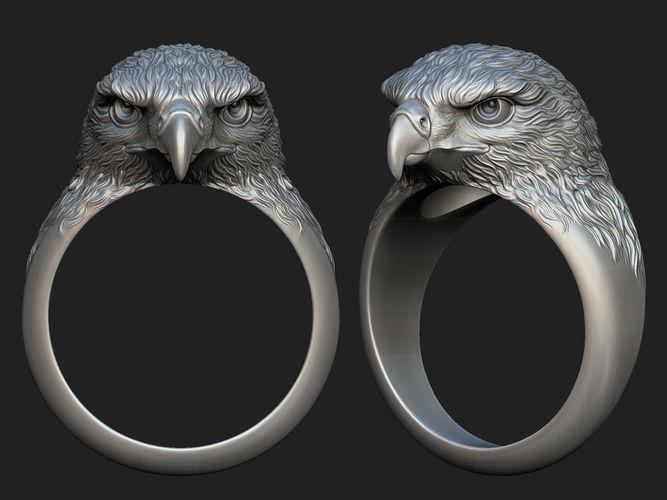hawk ring  3d model obj mtl stl 1