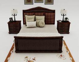 Bedroom set bedding bed 3D