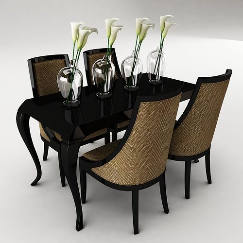3d dining table home cgtrader for Dining table latest model