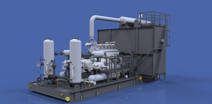 3d compressor 3d model dwg 1