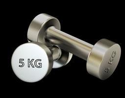 3D model Gym dumbbell exercise-equipment